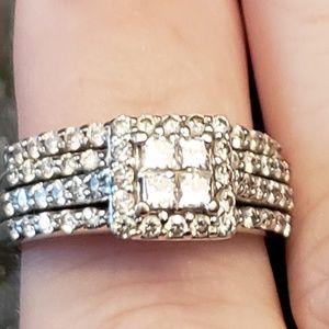 Jewelry - White Gold Wedding Set
